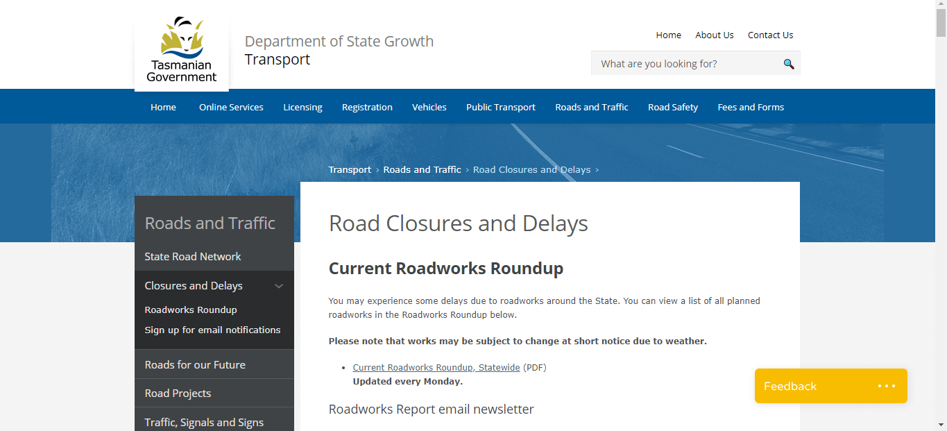 Road Closures and Delays